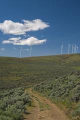 DSCF7171 (jiggumbob) Tags: power washingtonstate turbine windturbine sagebrush windpower windtower sagesteppe wildhorsewindandsolarfacility