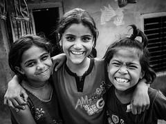 (milan syangbo) Tags: street nepal girls friends cute kids fun blackwhite teeth smiles streetphotography streetlife nepalese blackdiamond 17mm streetpassionaward olympusomdem10