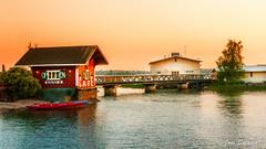 Cafe Regatta (Joni Salama) Tags: light sunset sea panorama photoshop suomi finland spring cafe helsinki fi tl meri vesi ilta topaz lightroom valo auringonlasku uusimaa punainen kevt kahvila kanootti denoise kulkuneuvot nikcollection