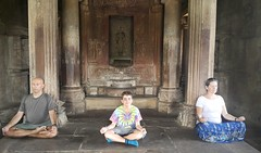Meditation time inside Khajuraho temple (vbolinius) Tags: travel india temple meditating khajuraho 2016 cooperbolinius carolynjurek vernbolinius