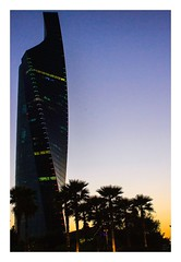 Twisty Building..... Again (Ravi Raj R - 3R) Tags: sunset towers kuwait altijariatower alshaheedpark
