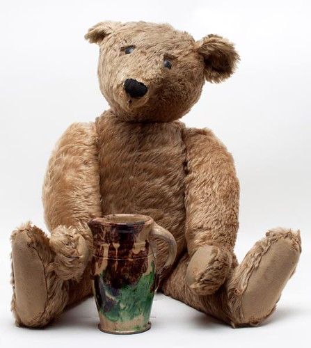 "STEIFF attr. 29"" Jointed Teddy Bear w/ Hump ($2,750.00)"