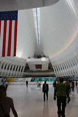 In the belly of the beast (ktmqi) Tags: newyorkcity architecture downtown path worldtradecenter trainstation commuting masstransit wallstreet santiagocalatrava retrofuture retrofutere