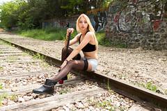 The long wait (Arslan) Tags: paris girl model alina badgirl
