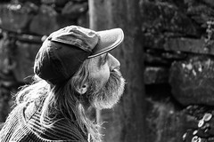 Mountain people (Alfredo Mateus Photography) Tags: old portrait people mountain man portugal hat beard blackwhite village longhair shale lousa schist catarredor