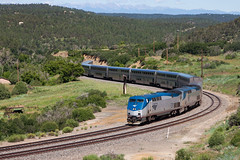 Amtrak's Southwest Chief on Raton Pass' Wootton Ranch (doug_o) Tags: raton amtrak southwestchief ratonnewmexico ratonpass scenicamtrak scenicamtraktrains dickwoottonranch