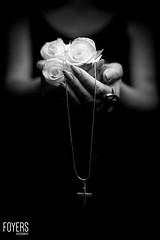 white roses in hands (Bob Foyers) Tags: suffolk model hands wordpress whiterose saxmundham strobist canon5dmark3 sigma50mmart foyersphotography dogwood52 stephbickers dogwoodweek22