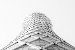 Spaceship (krzysztof.sinica) Tags: bw building skyscraper spaceship doha quatar 500px ifttt