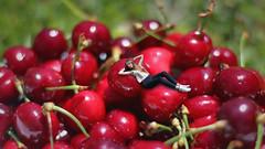 152/366: relaxin' (Andrea  Alonso) Tags: selfportrait me fruit myself cherry photo creative manipulation autorretrato minime miniyo