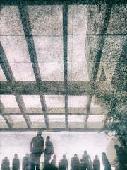 AUST Rain (ainulislam) Tags: shadow people reflection rain silhouette architecture lights aust