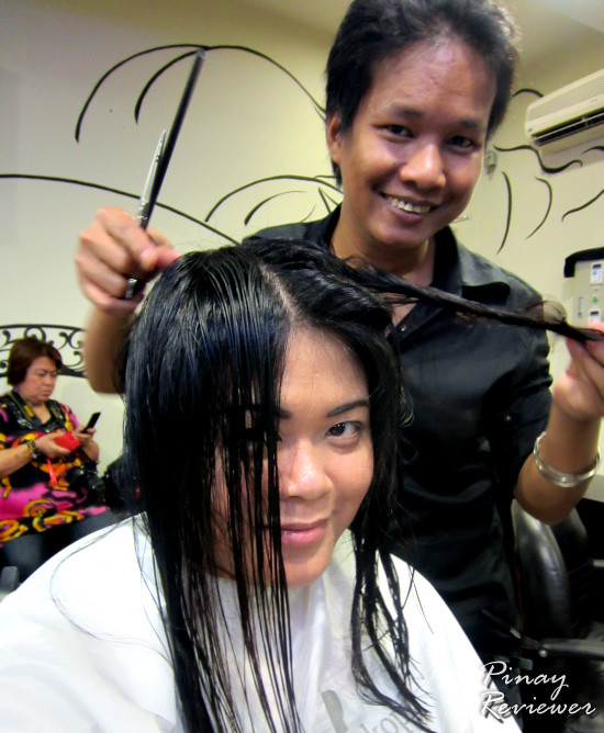 Precision hair cutting at rO2 Beauty and Wellness Center