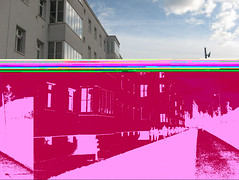 bipolare (el rafa*) Tags: vienna wien pink horizontal austria österreich diptych horizon gone lsd sd card mad orizzonte orizzontale dittico settembre2010