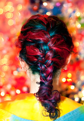Day 5 of 365 - Year 3 (wisely-chosen) Tags: selfportrait me december bokeh canon50mmf18 frenchbraid 2011 365days naturallycurlyhair canonspeedlite430exii curlformers manicpanicenchantedforest adobephotoshopcs5extended manicpanicrocknrollred herbalessencestouslemesoftlyconditioner redkensmoothdownbuttertreatment onenonlyarganoiltreatment