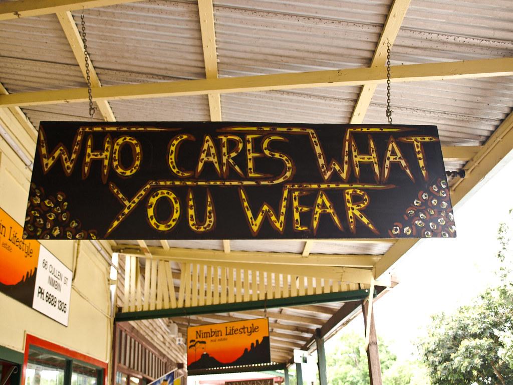A quién le importa lo que llevas?