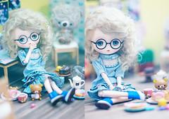 sleepy Beatrix (Cyristine) Tags: bear girl toys glasses miniatures berry doll kawaii rement dollhouse obitsu jerryberrys