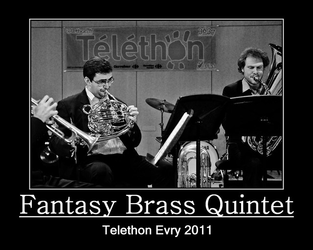 Evry Daily Photo - TELETHON Evry 2011 - Concert Fantasy Brass Quintet 4