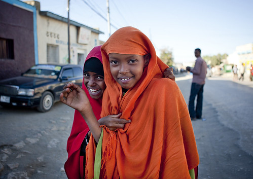 Portrait Of Cute Teenage Girls in Boroma - Somaliland