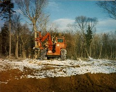KFF (The Koehring Guy) Tags: school trees hot forest saw ranger head 1988 fredericton maritime forwarding hardwood shera feller kff forwarder buncher koehring