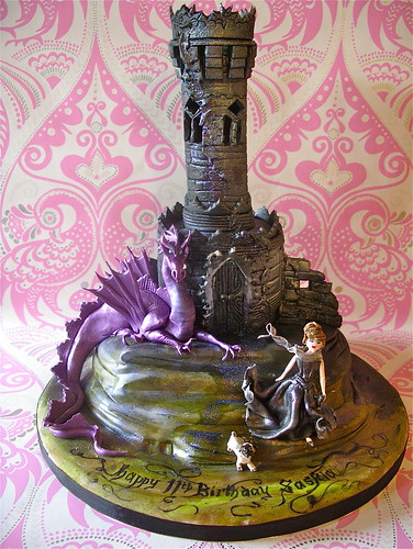 Gothic tower cake for Saskia