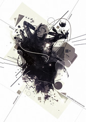 Impartial Fragment (Rainbows Inspire) Tags: people blackandwhite music white abstract motion black blur colour art love lines fashion photomanipulation photoshop circle square photography star design photo moving 3d movement model emotion render space surreal atmosphere retro line fantasy sphere dreams font mystical shape psd technique depth spherical hovering fragment sprial impartial atmostphere