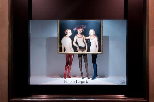 Vitrines Edition Lingerie du Bon marché - Paris, novembre 2011