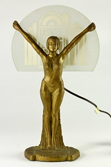 86. Art Deco Figural Lamp