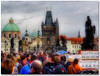 El Puente de Carlos - Charles Bridge (Miguel Angel SGR) Tags: travel bridge people architecture puente europe prague praha praga czechrepublic arco hdr orton republicacheca moldava puentedecarlos ortoneffect efectoorton