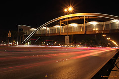 Modern Muharraq (Rshrsho) Tags: bridge cards lights bahrain slow shutter arad muharraq