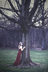 It's all a fairytale (Lexie Alley) Tags: park old autumn light columbus portrait woman tree fall nature girl canon vintage project photography nice pretty dress princess dream naturallight fantasy crown concept ohiostate