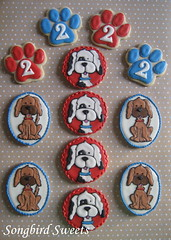 Dog Cookies (Songbird Sweets) Tags: dogs puppies pawprints sugarcookies songbirdsweets
