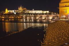 Prague castle, cathedral and birds (doveoggi) Tags: bridge castle cathedral charles czechrepublic 3200 charlesbridge