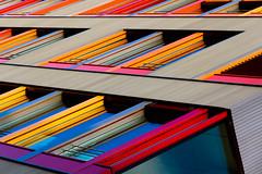 ~ (fidgi) Tags: blue red urban orange yellow architecture jaune canon rouge grey gris geometry line bleu lignes urbain leslilas geométrie canoneos7d