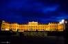 Schönbrunn with Christmas Lights - [EXPLORED] (andreaskoeberl) Tags: schönbrunn vienna christmas longexposure blue people castle silhouette yellow clouds dark weihnachten gold lights austria nikon christmasmarket palace weihnachtsmarkt hour ndfilter 1685 d7000 nikon1685 nikond7000 andreaskoeberl