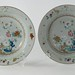 217. 18th century Lowestoft Porcelain Plates