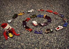 December 22nd - Winding Down (MomCraptastic) Tags: christmas cars elf swirl elfontheshelf