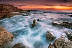 Ocean Flow (-yury-) Tags: ocean sea seascape beach nature water rock sunrise landscape flow sydney wave australia nsw swell maroubra thepowerofnow