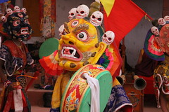 monks dances (rongpuk) Tags: people india mountains festival mask monastery monks tibetan himalaya tak ladakh gompa dances thok