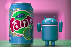 Android goinexotic (Issa Fakhro) Tags: pink blue macro green colors work canon toys office skne google europe sweden humor 100mm popart saturation soda cocacola scandinavia malm hue android fanta softdrink refreshment lsk fantaexotic followmeontwitterissafakhro