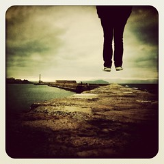 my friends can fly. yes! (612gr) Tags: old boy sea lighthouse clouds port vintage greek harbor fly flying jump lomo lomography shoes waves cloudy harbour hellas nike greece flies phare iphone faros ελλάδα limani sixtwelve φάροσ φαροσ iphoneography 612gr www612gr hipstamatic instagram