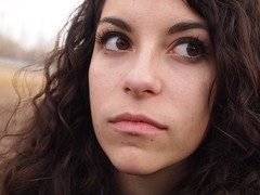 hey girl! (Sarah Messina) Tags: brown girl mouth hair eyes occhi curly ricci bocca marrone ragazza capelli