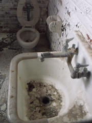 Prison toilet and sink (Courtney Ashley Williams) Tags: old broken photo brokenglass things dirty prison jail lorton lortonprison
