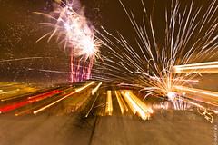 Fireworks light show - Iceland (Gulli Vals) Tags: show blue red reflection tree green art yellow canon 1 iceland europe european day colours purple fireworks january blowing ligt ísland tré vetur gulur dagur skuggar ljós flugeldar blár fjólublár evrópa gullivals