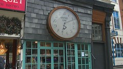 Vivienne Westwoods shop in Chelsea. (birdlouise) Tags: road london clock shop chelsea time front kings reverse