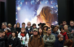The Believers (davemason) Tags: street colour london crowd strangers eros newyearsdayparade picardilly