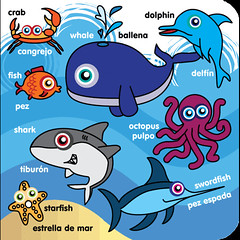 Icklelingo Book 1 - Inner - sea life (Icklelingo) Tags: 1 book englishspanish icklelingo