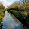 The ditched cloud (vat_i_can) Tags: sky cloud reflection nature canal ditch lovendegem doubleniceshot