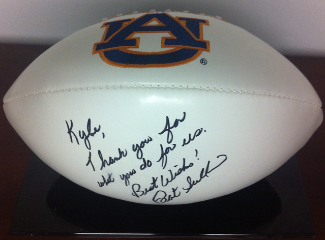 Heisman Trophy Winner Pat Sullivan Autograph Football