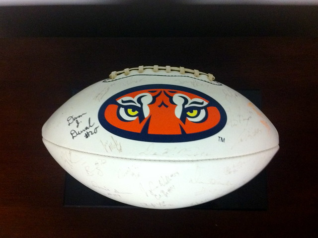 2002 Autographed Auburn Tigers Football