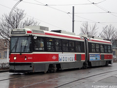 Toronto Transit Commission #4243 (vb5215's Transportation Gallery) Tags: toronto ttc rail transit 1989 streetcar commission l3 utdc cancar alrv