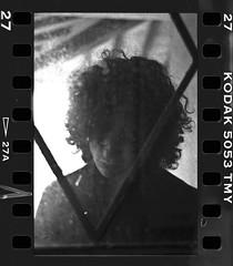 Attraverso il vetro 01 - Through the glass 01 (Michele Fiumalbi) Tags: people blackandwhite bw male abandoned film glass analog hurt kodak ruin oldhouse ilford 400deltaprofessional michelefiumalbi neuroproduzioni